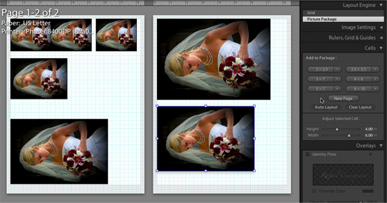 Adobe Lightroom 2 print mode
