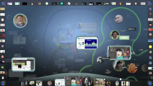 A screenshot from Adaptive Path's concept video for Aurora, produced for Mozilla Labs.