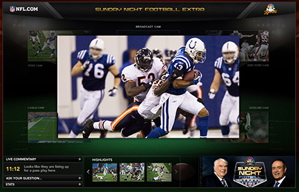 NFL Sunday night games, powered by Adobe