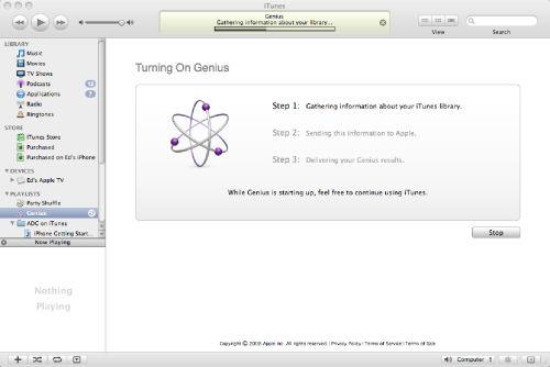 Screenshot from iTunes 8.0 Genius (1 of 4)