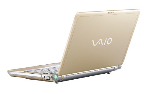 Sony's classy Vaio TT, one option for which is this attractive, pearl-gold tint finish.