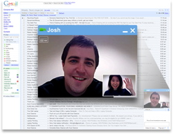Google video chat screenshot