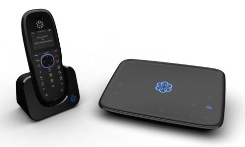 """Ooma's VoIP-based Telo pre-paid phone, which offers service that's said to be """"free for life."""""""