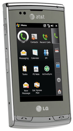 The LG Incite smartphone from AT&T