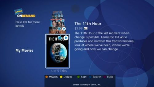 BlockBuster's OnDemand streaming media service