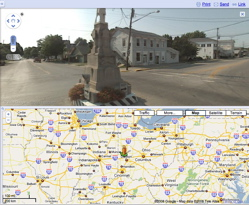 Google's new Street View in Split Screen Mode