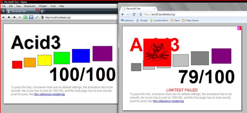 Opera 10 Alpha vs. Google Chrome