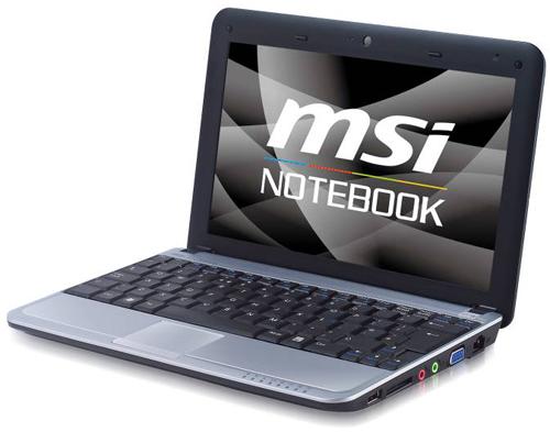MSI's Wind U115 hybrid notebook PC