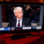 Our first look at Yahoo Widgets in action during an Anderson Cooper appearance on late-night TV.