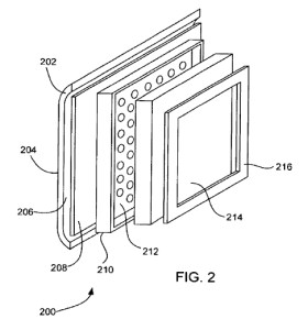 A drawing for an Apple patent application for a kind of embedded translucent logo...recirculated since 1999.