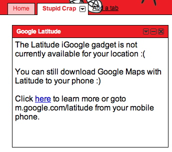 Google Latitude fails us