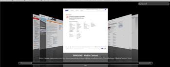 Safari 4 beta bookmark cover flow