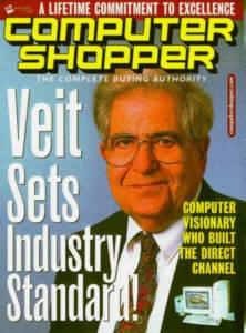Stan Veit on a mock Computer Shopper cover from the Ziff-Davis era.