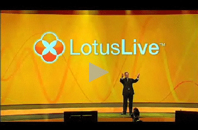 IBM's Lotus General Manager Bob Picciano unveils LotusLive January 19, 2009.
