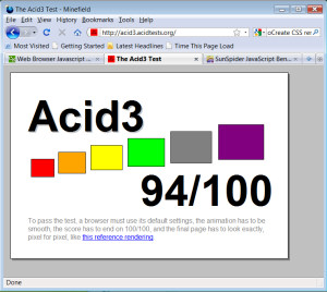 Firefox 3.6 Alpha 1 posts the highest Acid3 test score for Mozilla.