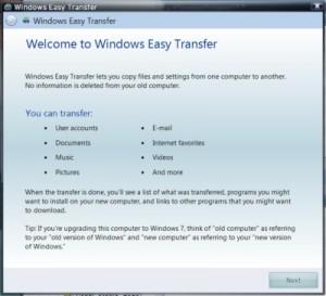 Windows 7 easy transfer (windows) download.