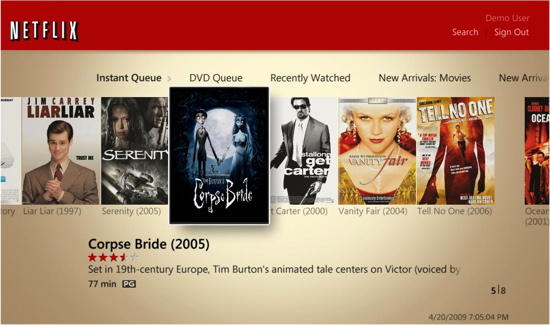 windows media center netflix
