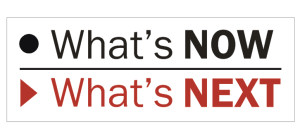 What's Now | What's Next main banner
