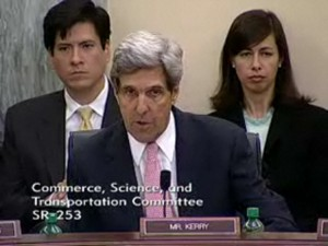 Sen. John Kerry questions AT&T SVP Paul Roth, in testimony before the Senate Commerce Committee, June 17, 2009.