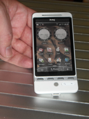 HTC Hero phone with Sense front-end