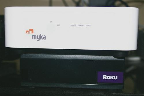 Myka is the same size as Mac Mini, bigger than Roku