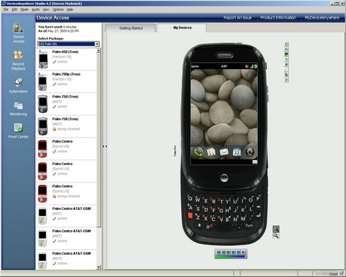 Virtual Palm Pre