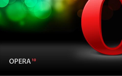 Opera 10 browser logo