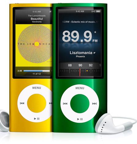 New ipod Nano with FM radio, camera