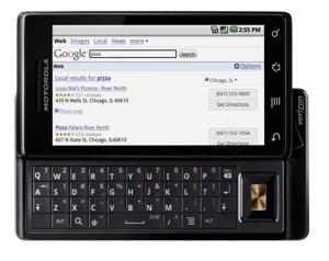 Verizon Droid by Motorola, open