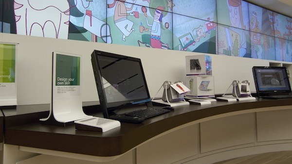 Microsoft Store Product and Video Wall