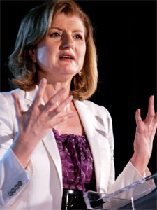 Blog publisher Arianna Huffington