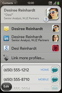 WebOS Contacts