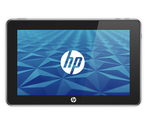 One of the few official photos of HP's 'Slate' PC, as yet unnamed.  [Courtesy HP]