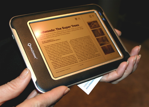Qualcomm Mirasol MEMS display e-reader