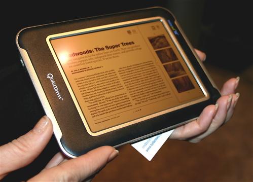 Qualcomm Mirasol MEMS display e-reader
