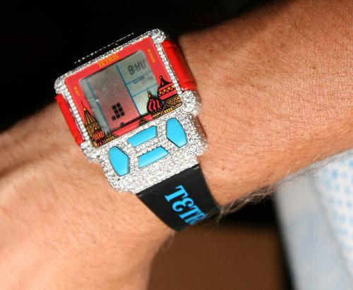 Rob Dyrdek's Iced-out Tiger Tetris watch