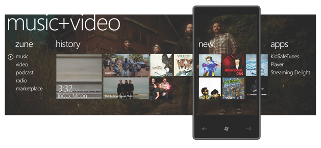 Windows Phone 7 Series Music Hub
