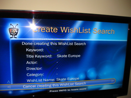 TiVo Wishlist