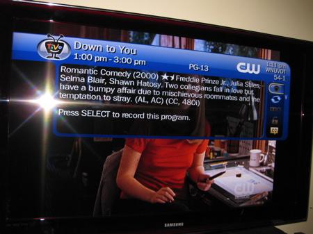 TiVo over live TV (SD)