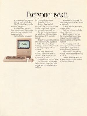 Mac Newsweek Ad 1984