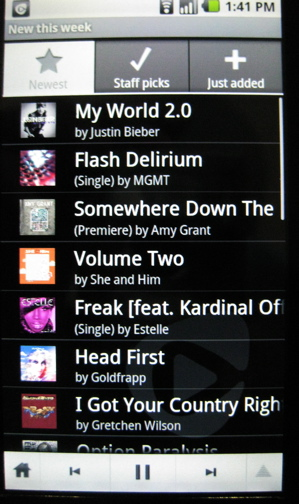Rhapsody Android Radio most popular