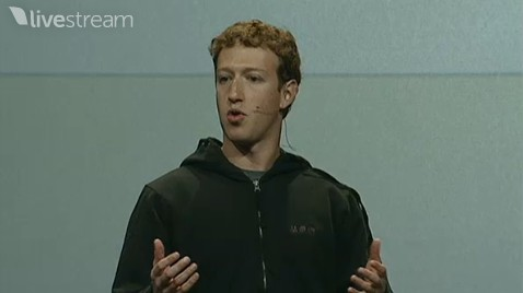 Facebook CEO Mark Zuckerberg speaks to the f8 developers' conference in San Francisco April 21, 2010.