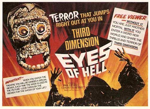 Poster from the 3D movie 'Eyes of Hell'