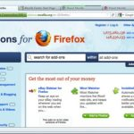 A recent mockup of the likely default appearance of Firefox 4.0.  [Courtesy Mozilla]