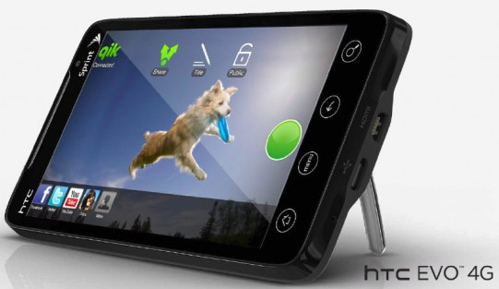 HTC EVO 4G with Qik
