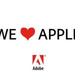 Adobe hearts Apple
