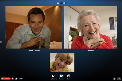 Skype 5.0 five-way video calling