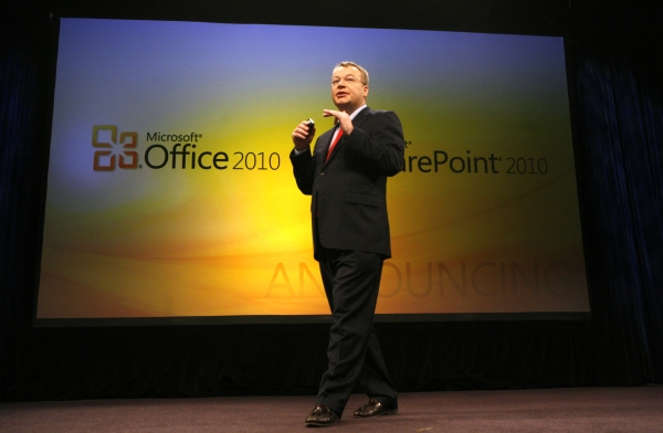 Microsoft Business Division President Stephen Elop, at the Office 2010 launch at Studio 8H in Rockefeller Center, May 12, 2010.