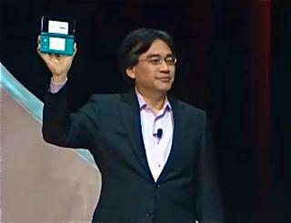 Nintendo's Satoru Iwata with the new 3DS