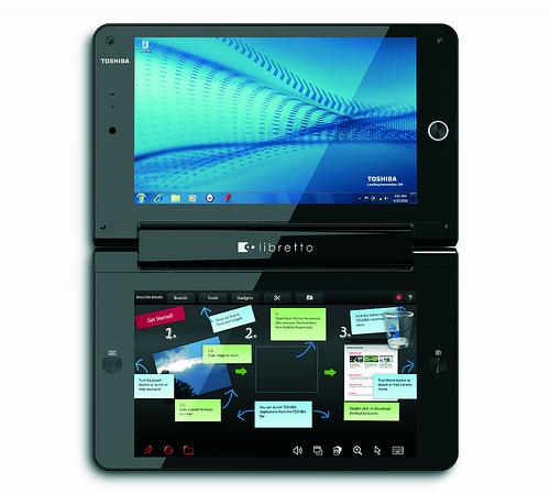Toshiba Libretto dual touchscreen UMPC